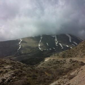 peak with snow